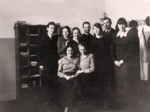 1935 rok,grono profesorskie i ks. Eggert